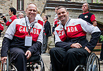 Ottawa ON - June 4 2014 - Dennis Thiesen and Mark Ideson during the Celebration of Excellence visiting Parliament Hill. (Photo: Matthew Murnaghan/Canadian Paralympic Committee)