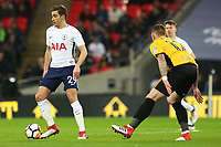 Harry Winks of Tottenham Hotspur is marked by Scot Bennett of Newport County during the Fly Emirates FA Cup Fourth Round Replay match between Tottenham Hotspur and Newport County at Wembley Stadium, London, England, UK. 07 February 2018
