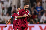 Boualem Khoukhi of Qatar celebrating his score during the AFC Asian Cup UAE 2019 Semi Finals match between Qatar (QAT) and United Arab Emirates (UAE) at Mohammed Bin Zaied Stadium  on 29 January 2019 in Abu Dhabi, United Arab Emirates. Photo by Marcio Rodrigo Machado / Power Sport Images