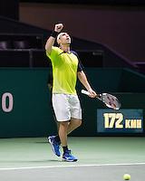 Rotterdam, The Netherlands, Februari 9, 2016,  ABNAMROWTT, Marcos Baghdatis (CYP)<br /> Photo: Tennisimages/Henk Koster