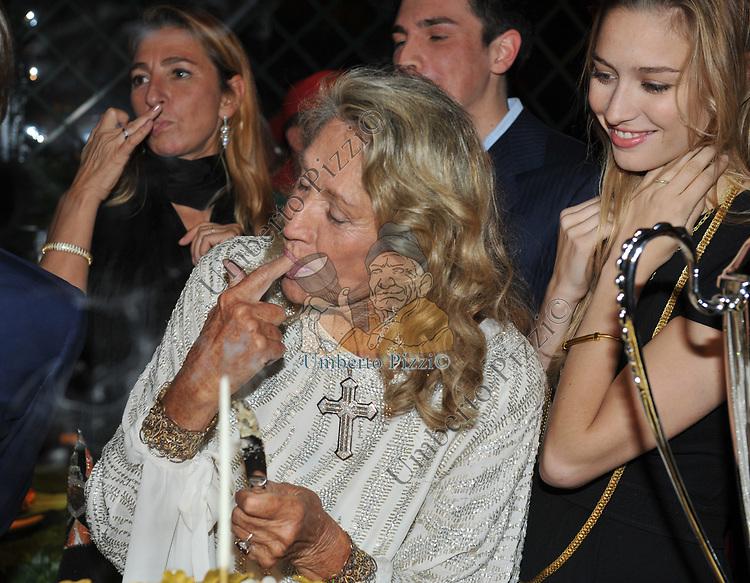 PAOLA E MARTA MARZOTTO, BEATRICE BORROMEO<br /> FESTA DEGLI 80 ANNI DI MARTA MARZOTTO<br /> CASA CARRARO ROMA 2011