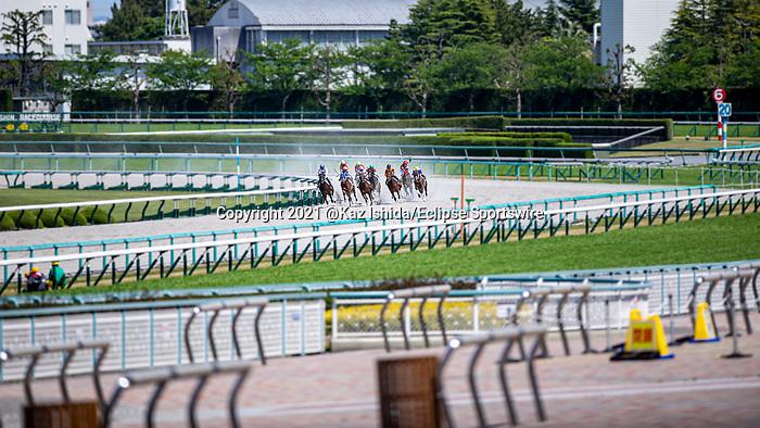 TAKARAZUKA,JAPAN-APR 25: No spectators race again. at Hanshin Racecourse on April 25,2021 in Takarazuka,Hyogo,Japan. Kaz Ishida/Eclipse Sportswire/CSM