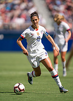 ,  - MAY 12: Carli Lloyd #10 dribbles the ball during a match between South Africa and USWNT at  on May 12, 2019 in , .