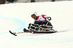 Kurt Oatway, Sochi 2014 - Para Alpine Skiing // Para-ski alpin.<br /> Kurt Oatway competes in the men's Super G, sitting event // Kurt Oatway participe au Super G masculin, épreuve assise. 09/03/2014.