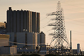 Dungeness Nuclear Power Station, Kent. Dungeness B is an Advanced Gas Cooled Reactor; the older Dungeness A Magnox reactor was decommissioned in 2006.