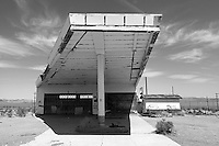 Abandoned gas station along Route 66 in Ludlow, California