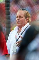 Sportscenter anchor Chris Berman during MLB All-Star Game Practice on July 13, 2015 at Great American Ball Park in Cincinnati, Ohio.  (Mike Janes/Four Seam Images)