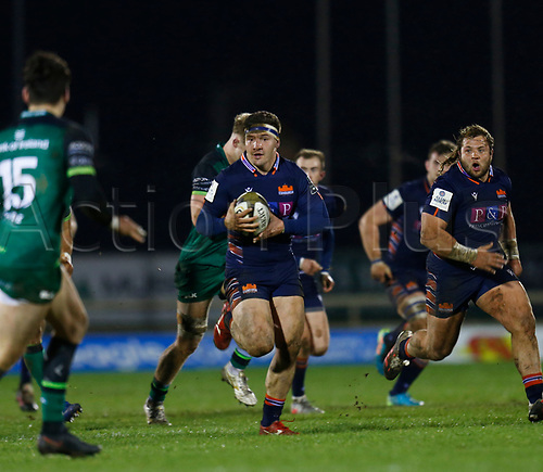 13th March 2021; Galway Sportsgrounds, Galway, Connacht, Ireland; Guinness Pro 14 Rugby, Connacht versus Edinburgh; Mike Willemse on an attacking run for Edinburgh