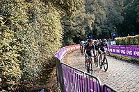 Michal Kwiatkowski (POL/Ineos Grenadiers) & Luke Rowe (GBR/Ineos Grenadiers) up the Kemmelberg<br /> <br /> 82nd Gent-Wevelgem in Flanders Fields 2020 (1.UWT)<br /> 1 day race from Ieper to Wevelgem (232km)<br /> <br /> ©kramon