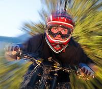 Andrew Pohlmann on mountain bike, Alberta, Canada