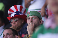 United States Men's National team fans react to the game at Azteca stadium. The United States Men's National Team played Mexico in a CONCACAF World Cup Qualifier match at Azteca Stadium in, Mexico City, Mexico on Wednesday, August 12, 2009.