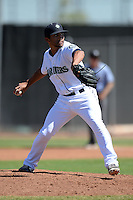 Seattle Mariners pitcher Trey Cochran-Gill (26) during an Instructional League game against the Milwaukee Brewers on October 4, 2014 at Peoria Stadium Training Complex in Peoria, Arizona.  (Mike Janes/Four Seam Images)