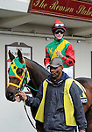 Isn't He Perfect with jockey Channing Hill before the 141st running of the grade 2 Jerome Stakes for three year olds on April 23, 2011 at Aqueduct Race Track in Ozone Park, New York.  (Bob Mayberger/Eclipse Sportswire)