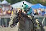 September 25, 2021: Magic Michael #4, ridden by jockey Frankie Pennington wins the Grade 3 Greenwood Cup Stakes at Parx Racing and Casino in Bensalem, Pennsylvania on September 25th, 2021. Scott Serio/Eclipse Sportswire/CSM