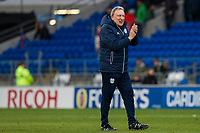 Cardiff City manager Neil Warnock claps the fans at full time of the Sky Bet Championship match between Cardiff City and Middlesbrough at the Cardiff City Stadium, Cardiff, Wales on 17 February 2018. Photo by Mark Hawkins / PRiME Media Images.