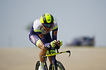 Rein Taaramae (EST) Intermarche-Wanty-Gobert Materiaux during Stage 2 of the 2021 UAE Tour an individual time trial running 13km around  Al Hudayriyat Island, Abu Dhabi, UAE. 22nd February 2021.  <br /> Picture: Eoin Clarke | Cyclefile<br /> <br /> All photos usage must carry mandatory copyright credit (© Cyclefile | Eoin Clarke)