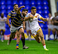 13th November 2020; The Halliwell Jones Stadium, Warrington, Cheshire, England; Betfred Rugby League Playoffs, Catalan Dragons versus Leeds Rhinos; David Mead of Catalans Dragons is tackled
