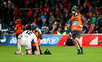 9th November 2019 | Munster vs Ulster<br /> <br /> Stuart McCloskey takes a knock during the Round 6 PRO14 League clash between Munster Rugby and Ulster Rugby at Thomond Park, Limerick, Ireland. Photo by John Dickson / DICKSONDIGITAL