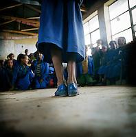 Children in a classroom at Chimbiri school...