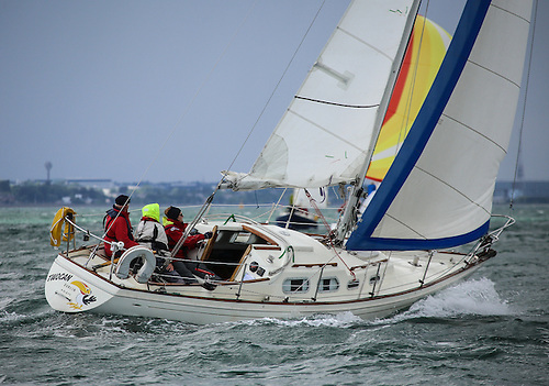 Shipman sailing on Dublin Bay. VDLR is keen to see a bigger entry from this keelboat class Photo: Afloat