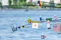 Flags<br /> Open Water 10km Men - Kazanka River<br /> Day04 27/07/2015<br /> XVI FINA World Championships Aquatics Swimming<br /> Kazan Tatarstan RUS July 24 - Aug. 9 2015 <br /> Photo A.Masini/Deepbluemedia/Insidefoto