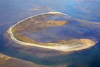 Trischen: EUROPA, DEUTSCHLAND, SCHLESWIG- HOLSTEIN, (GERMANY), 19.10.2018:Trischen ist eine unbewohnte Insel vor der Meldorfer Bucht, etwa 14 Kilometer vor der Dithmarscher Nordseeküste – die Entfernung zum Trischendamm beträgt 12 Kilometer. Die Insel gehört zur Gemeinde Friedrichskoog und ist nur von März bis Oktober von einem Vogelwart des NABU bewohnt. Für andere Menschen besteht ein Besuchsverbot.<br /> Trischen wird von Vögeln sowohl als Brut- als auch als Rastplatz besucht, von einzelnen Arten wie Brandgänsen, Knutts oder Alpenstrandläufern finden sich zeitweise bis zu 100.000 Exemplare auf der Insel und in den angrenzenden Wattenmeergebieten. Seit 1985 liegt sie in einer Kernzone des Nationalparks Schleswig-Holsteinisches Wattenmeer.