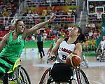 Amanda Yan, Rio 2016 - Wheelchair Basketball // Basketball en fauteuil roulant.<br /> The Canadian women's wheelchair basketball faces host nation, Brazil, in their final match of preliminaries // Le basketball en fauteuil roulant féminin canadien affrontera le pays hôte, le Brésil, dans son dernier match de la ronde préliminaire. 12/09/2016.