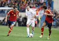 Spain's national team Cesc Fabregas against France's national team Franck Ribéry during match. October 16, 2012. (ALTERPHOTOS/Alvaro Hernandez) /NORTEPhoto