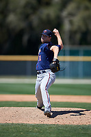 Minnesota Twins Patrick McGuff (31) during a minor league Spring Training game against the Baltimore Orioles on March 17, 2017 at the Buck O'Neil Baseball Complex in Sarasota, Florida.  (Mike Janes/Four Seam Images)