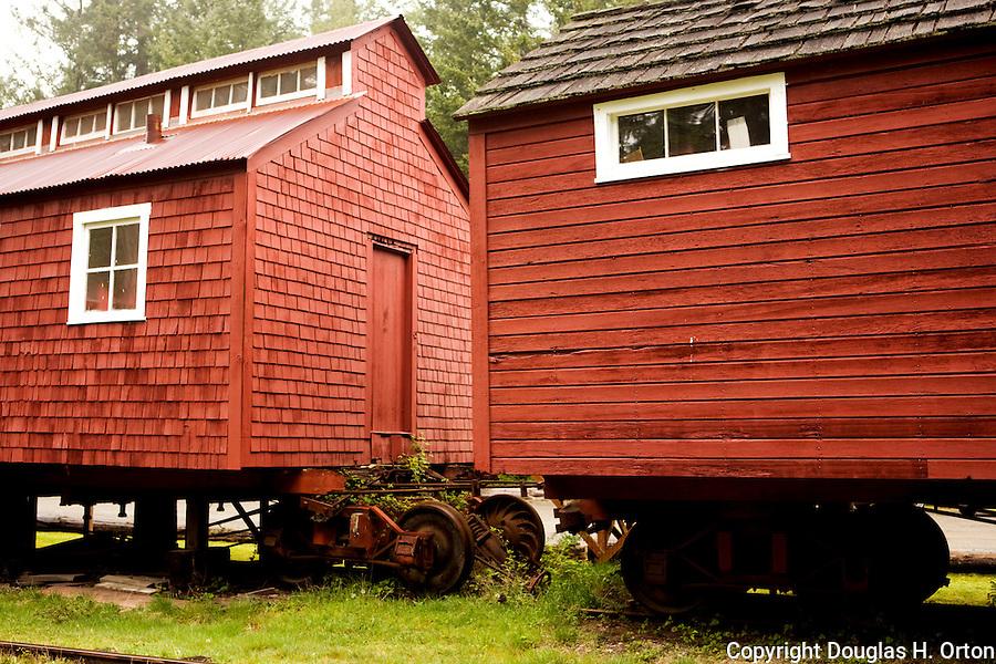 Logging town on rail cars, Logging Museum, Point Defiance Park, Tacoma, Washington.