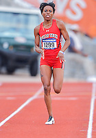 May 25, 2013: Cierra White of Texas Tech #1299 competes in 200 meters dash quarterfinal during NCAA Outdoor Track & Field Championships West Preliminary at Mike A. Myers Stadium in Austin, TX.