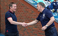 Bolton Wanderers' manager Phil Parkinson is greeted by Blackburn Rovers' manager Tony Mowbray <br /> <br /> Photographer Andrew Kearns/CameraSport<br /> <br /> The EFL Sky Bet Championship - Blackburn Rovers v Bolton Wanderers - Monday 22nd April 2019 - Ewood Park - Blackburn<br /> <br /> World Copyright © 2019 CameraSport. All rights reserved. 43 Linden Ave. Countesthorpe. Leicester. England. LE8 5PG - Tel: +44 (0) 116 277 4147 - admin@camerasport.com - www.camerasport.com