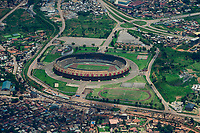 UGANDA, Kampala, Mandela National Stadium or Namboole Stadium in Bweyogerere, for soccer events with about 45.000 visitors, financed and built by China for 36 Mio. US-$
