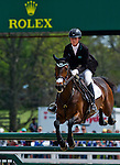 April 27, 2014: VERONICA, ridden by Lauren Kieffer (USA), competes in the Stadium Jumping Finals at the Rolex Kentucky 3-Day Event at the Kentucky Horse Park in Lexington, KY. Scott Serio/ESW/CSM