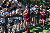 STANFORD, CA - SEPTEMBER 12: Mia Watanabe after a game between Loyola Marymount University and Stanford University at Cagan Stadium on September 12, 2021 in Stanford, California.