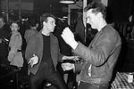 Blitz Kids New Romantics at The Blitz Club Covent Garden, London, England 1980.<br /> <br /> Lesley Chilkes, John Barclay (centre) and Steve Shanley. Names thanks to Christos Tolera.