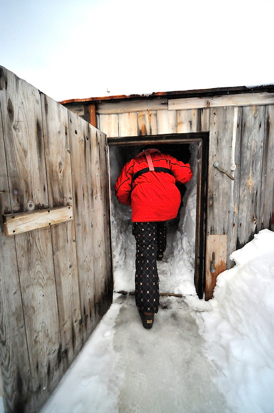 One of the entrances to Mawson's Hut.