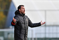 headcoach Hamide Lamara  of Standard  pictured during a female soccer game between Standard Femina de Liege and Club Brugge YLA on the seventh matchday of the 2020 - 2021 season of Belgian Scooore Womens Super League , saturday 14 th of November 2020  in Angleur , Belgium . PHOTO SPORTPIX.BE | SPP | DAVID CATRY