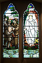 """11/06/16<br /> <br /> Stained glass window in church inspired by postcard found in Charles' pocket when he was wounded.<br /> <br /> One hundred years have passed since Private Charles Gordon Shaw was fatally wounded in the Battle of the Somme, but today is the first day his family have been able to grieve at his graveside.<br /> <br /> Full Story: https://fstoppressblog.wordpress.com/private_charles_shaw/<br /> <br /> <br /> That's because his grave was """"lost"""" during a changeover in church vicars and when the Commonwealth War Graves Commission tried to place a headstone on his plot in 1926, the new vicar was unable to tell them where the body was buried.<br /> <br /> But today, thanks to detective work by his  niece, 83-year-old Dorris Innes from Spondon, together with an amateur historian who located the 'lost' grave, Private Shaw's family were finally able to pay their respects to the war hero, with a commemorative service at his grave, exactly 100 years to the day since he was buried at Christ Church in Stonegravels, Chesterfield.<br /> <br /> All Rights Reserved, F Stop Press Ltd."""