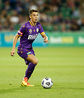18th April 2021; HBF Park, Perth, Western Australia, Australia; A League Football, Perth Glory versus Wellington Phoenix; Christopher Ikonomidis of the Perth Glory on the attack during the first half