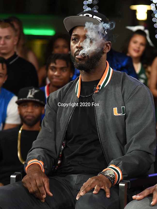 """MIAMI BEACH, FL - JANUARY 28: Reggie Wayne discusses Fox Sports """"The ReUnion"""" at the Fox Sports South Beach studio during Super Bowl LIV week on January 29, 2020 in Miami Beach, Florida. (Photo by Frank Micelotta/Fox Sports/PictureGroup)"""