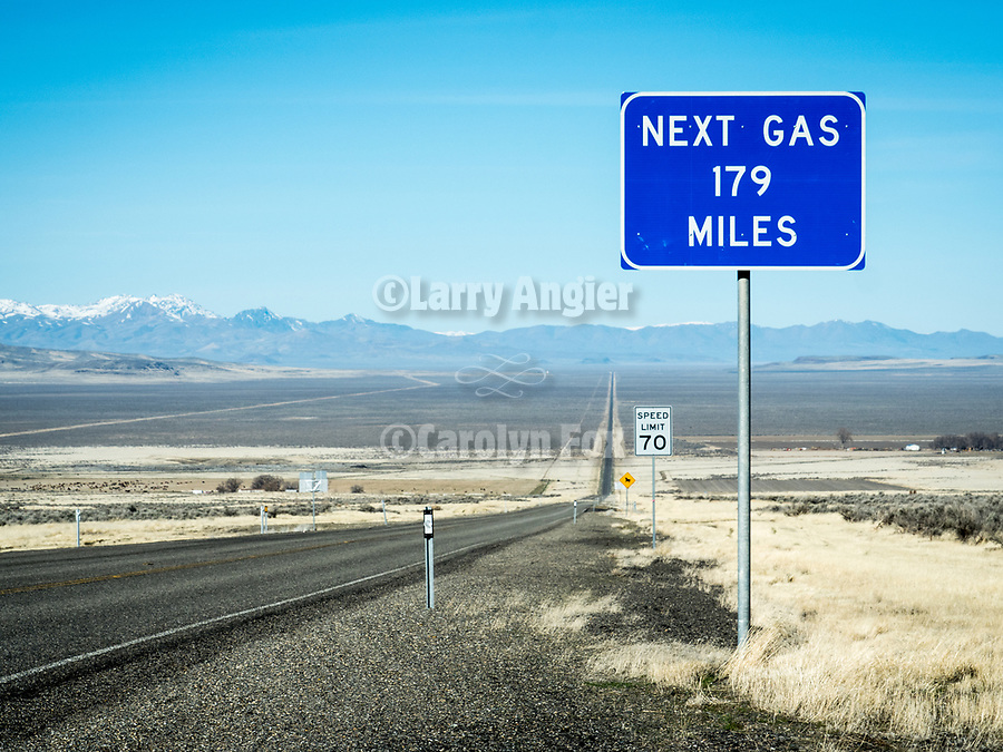 Nevada Highway 140: Next Gas, 179 Miles...