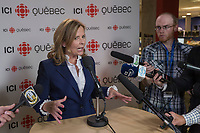 Anne Guerette is seen after a debate for the municipal election in Quebec city October 17, 2017.<br /> <br /> PHOTO :  Francis Vachon - Agence Quebec Presse