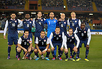 team photo (USA), before the friendly match Italy against USA at the Stadium Luigi Ferraris at Genoa Italy on february the 29th, 2012.