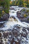 Iron County, WI<br /> Potato River falls (upper falls) at Potato River Falls County Park, near Gurney