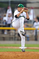 Paul Fry#22 of the Clinton LumberKings throws against the West Michigan Whitecaps at Ashford University Field on July  25, 2014 in Clinton, Iowa. The Whitecaps won 9-0.   (Dennis Hubbard/Four Seam Images)