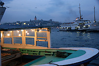 Boats on the Golden Horn, Istanbul, Turkey