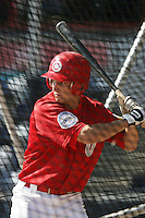 July 11 2009: Conner Crumbliss of the Vancouver Canadians before game against the Boise Hawks at Nat Bailey Stadium in Vancouver,BC..Photo by Larry Goren/Four Seam Images