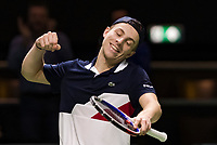 Rotterdam, The Netherlands, 12 Februari 2019, ABNAMRO World Tennis Tournament, Ahoy,  Tallon Griekspoor (NED) celebrates his win over second seeded Khachanov (RUS)<br /> Photo: www.tennisimages.com/Henk Koster