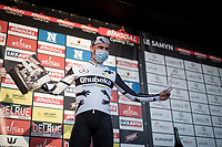 """Hero of the day"" Victor Campenaerts (BEL/Qhubeka ASSOS)<br /> <br /> 53rd Le Samyn 2021<br /> ME (1.1)<br /> 1 day race from Quaregnon to Dour (BEL/205km)<br /> <br /> ©kramon"